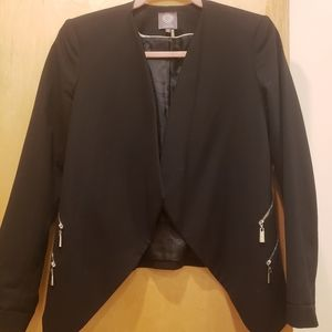 Black Blazer with side Zippers details
